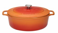 Gryta oval 5,6 l orange (cream insida)