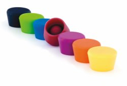 Silicone wine stoppers 2-pack