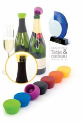Silicone champagne stoppers 2-pack